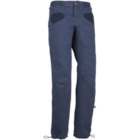 E9 Rondo Slim Trousers Men blue navy